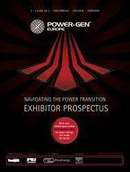 eXHIBITor ProsPeCTus - Power-Gen Europe