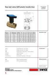 New ball valve DZR plastic handle blue