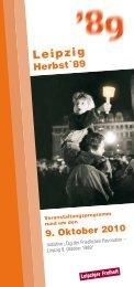 Programmheft Herbst 89 2010 - Herbst '89 - Aufbruch zur ...