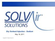 Dry Sorbent Injection - Sodium - MARAMA