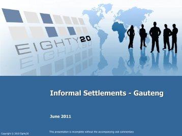 Informal settlements data - Gauteng - Housing Development Agency