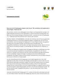 Pressemitteilung, 12.01.2012 Neues aus der ILE-Projektgruppe ...