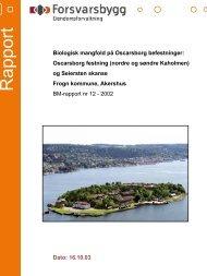 Rapport biologisk mangfold Oscarsborg festning _ del I - Forsvarsbygg