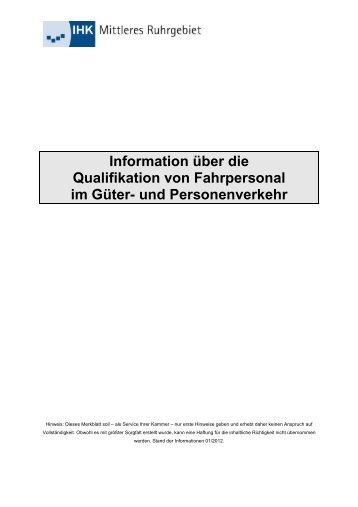 Information über die Qualifikation von Fahrpersonal im Güter