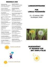 Invitasjon, brosjyre konferanse 2009 - Norsk musikkråd