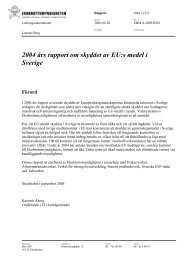 2004 års rapport om skyddet av EU:s medel i Sverige