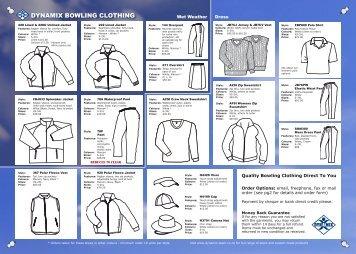 DYNAMIX BOWLING CLOTHING