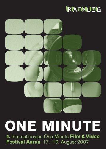 Festivalkatalog 2007 - One Minute Festival