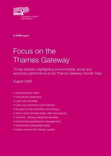 Focus on the Thames Gateway