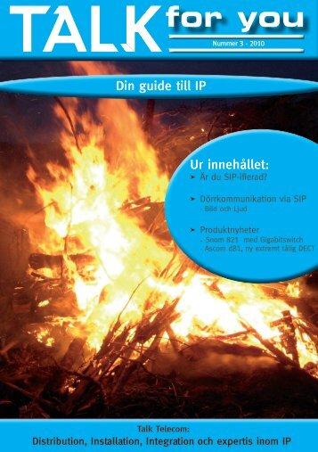 Talk for you nummer 3, 2010 - Om SIP - Talk telecom