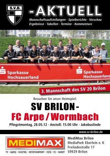 12. Ausgabe vom 28.05.2012 (PDF 4,93MB - SV 20 Brilon