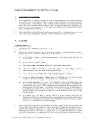 TERMS AND CONDITIONS GOVERNING ACCOUNTS - Baiduri Bank