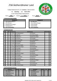 Spielplan 2013 Voba-Cup D-Jugend - JSG Gebhardshainer Land