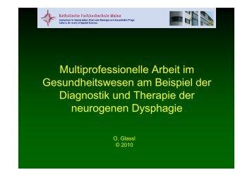Multiprofessionelle Arbeit im Gesundheitswesen am Beispiel der ...