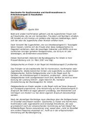 Geschenke für Konfirmanden und Konfirmandinnen ... - Kompass-Treff