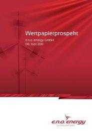 Wertpapierprospekt von 06.06.2011 - e.n.o. energy GmbH
