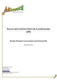ETUDE D IMPACT 25 juillet 2011.pdf - Commune de Lanrivoaré