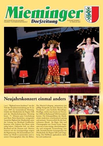 Mieminger Dorfzeitung Jänner/Feber 2009 - Gemeinde Mieming ...