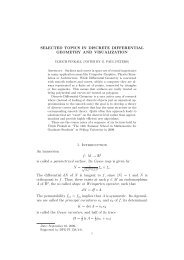 Lecture notes - Institut für Mathematik - TU Berlin