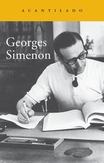 """Opúsculo gratuito """"Georges Simenon"""" - Acantilado"""