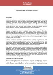 Analisis Media Desember 2012 - Kalyanamitra