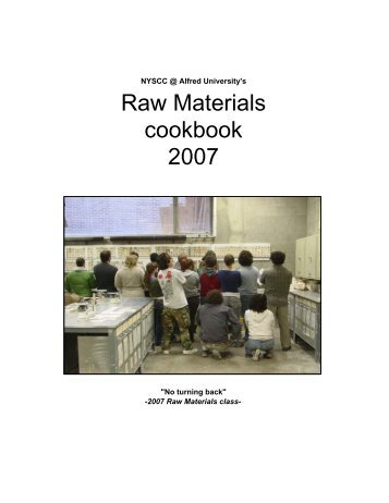 Raw Materials cookbook 2007 - Alfred's Clay Store