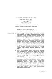 UU 26-2007 Penataan Ruang