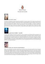 Consulta l'elenco dei libri novità che puoi trovare in biblioteca.