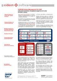 CIDEON Output Management für SAP