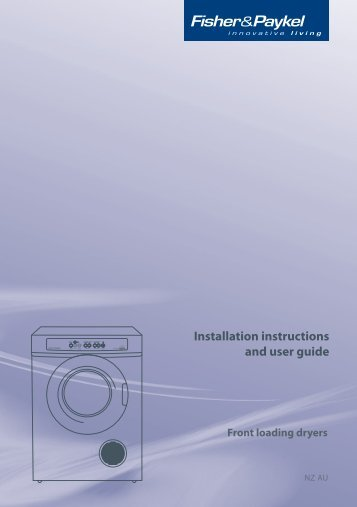 Installation instructions and user guide - Appliances Online