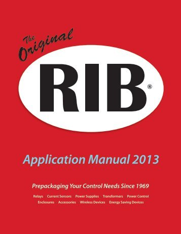Application Manual 2013 - Functional Devices, Inc.