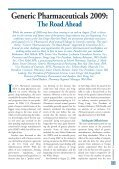 Generic Pharmaceuticals 2009: - U.S. Pharmacist - Page 3