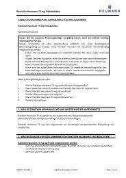 Gebrauchsinformation Ranitidin Heumann 75 mg Filmtabletten