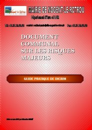 document communal sur les risques majeurs - Nogent-le-Rotrou
