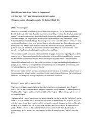 PDF Transcription Mufti Ali Gomaa - Radical Middle Way