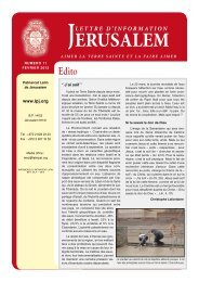 JERUSALEM - Patriarcat latin de Jérusalem