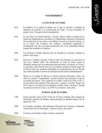Gaceta Año 3, No 226 - H. Congreso del Estado de Sonora