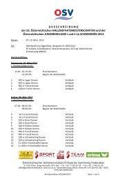 Ausschreibung - SV Donau Chemie St.Veit an der Glan