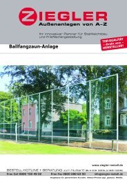 Ballfangzaun-Anlage - Ziegler