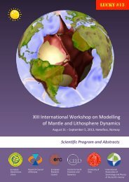 Abstracts - Earth Dynamics Group @ UiO