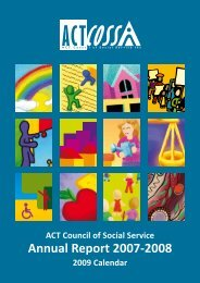 ACTCOSS Annual Report 2007-08 - ACT Council of Social Service