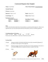 Constructed Response Item Template - Discovery Center