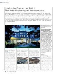 Hotelumbau Baur au Lac, Zürich Eine Herausforderung der ...