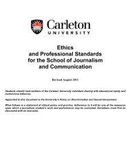 Ethics Policy - Carleton University