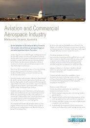 Aviation and Commercial Aerospace Industry - Invest Victoria