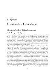2. fejezet A statisztikus fizika alapjai