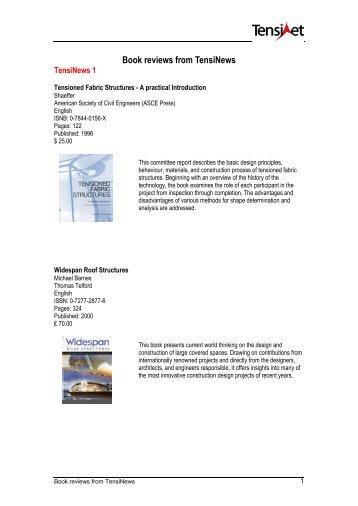 Book reviews from TensiNews - TensiNet