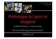 P h l i d Pathologie du sport et imagerie