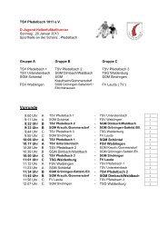 Spielplan D-Jugend - TSV Pfedelbach