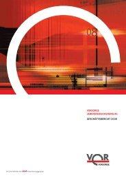 vorsorge lebensversicherung ag geschäftsbericht 2008 - Anbieter